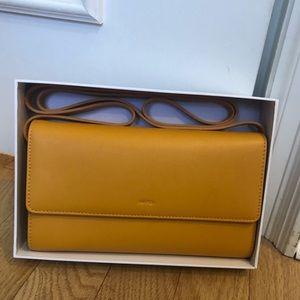 JW PEI Mustard Yellow Crossbody Wallet